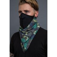 Neoprene VINTAGE CAMOUFLAGE BANDANA MASK - facemask