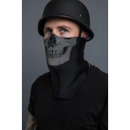 Neoprenová ochrana celého obličeje - lidská lebka (facemask)