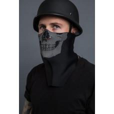 Neoprene REAL HUMAN SKULL HALF MASK - facemask