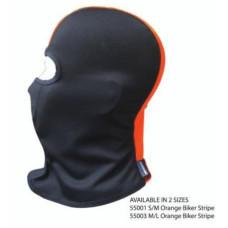 Biker Ski Sports Balaclava Helmet Liner - Orange Stripe