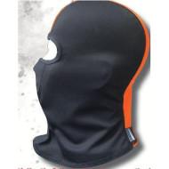 Motorkářská nebo lyžařská kukla do chladného počasí - oranžovo černá od firmy Hair Glove