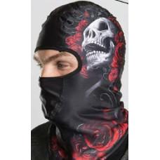 Biker Ski Sports Winter Balaclava Helmet - Hair Glove Devil's Roses