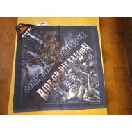 Motorkářský šátek Ride or Die Saloon, 52x52cm