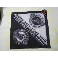 Motorkářský šátek Ride Fast Live Hard, 54x54cm