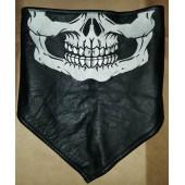 Skull Leather Face Mask Wrap w/Fleece