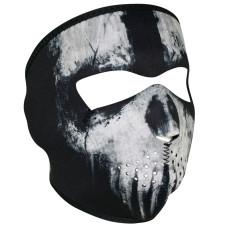 Biker Skull Neoprene Face Mask by ZANheadgear