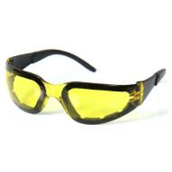 Žluté motorkářské sluneční brýle Hot Leathers