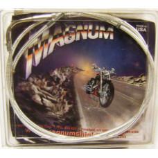 Chromové pancéřové spojkové lanko Magnum pro Harley 110cm