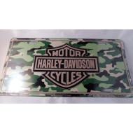 "Harley-Davidson Camouflage Logo License Plate sign 6x12"" C2030"