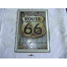 Plechová cedule Route 66, retro, 20x15 cm