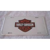 SPZ Harley Davidson - bílá