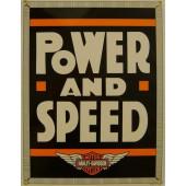 Smaltovaná cedule Harley Davidson Power&Speed