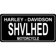 Harley Davidson Shovelhead License Plate Tin Sign