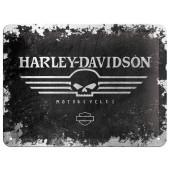 Plechová cedule Harley-Davidson Motorcycles Skull 15x20cm