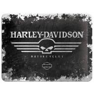 Plechová cedule Harley-Davidson Motorcycles lebka Skull 40x30cm