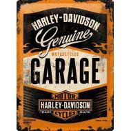 Plechová cedule Harley-Davidson Garage 40x30