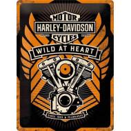 Plechová cedule Harley-Davidson Wild at Heart 40x30cm