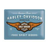 "Harley-Davidson Free Spirit Riders steel sign 16x12"""