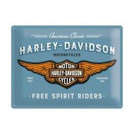 Plechová cedule Harley-Davidson Free Spirit Riders 40x30cm
