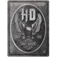 """Harley-Davidson metal eagle steel sign 16x12"""""""