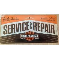 Plechová cedule Harley-Davidson Service & Repair 25x50cm