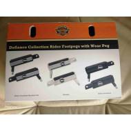 Harley-Davidson Defiance Footpegs, Black, 50500655