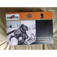 Harley-Davidson Handlebar Mount 12V Power Port - Gloss Black, 69200854
