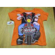 Harley Sturgis Biker SHIRT, Children, Orange,  1+1,5 Year