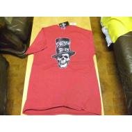 Men's Sturgis 75th Black Hills Rally 2015, Skull & Top Hat, Red, Biker shirt, M