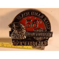 Odznáček Harley sraz 56. výročí Sturgis Black Hills Rally 1996