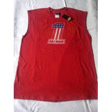 Červené triko bez rukávů Harley Davidson V12M-215, velikost M a XL