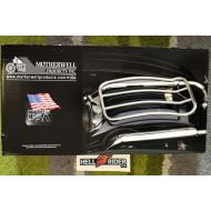 "Harley-Davidson Touring MOTHERWELL LUGGAGE RACK SINGLE SEAT 7"" CHROME"