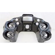 Bagger vnitřní maska fairing Double Din Stereo na Harley-Davidson Road Glide 1998-2013