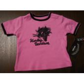 Harley-Davidson Biker Baby Girl Pink Cat Interlock T-shirt 3M