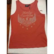 Harley-Davidson Women's Flag Fashion Distressed Graphic Tank Top 96819-19VW Large