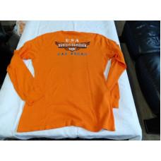 Harley Davidson Men's Thermo Orange LS Shirt Live Hard Ride Easy USA Eagle 4XL