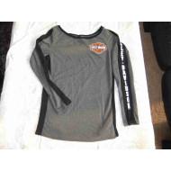 Tričko Harley-Davidson, dámské, šedé s dlouhým rukávem, asi L