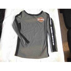 Harley Davidson, Grey shirt,