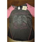 Harley-Davidson Women's Eagle Shield Elbow Length Tee, Phantom 96017-17VW