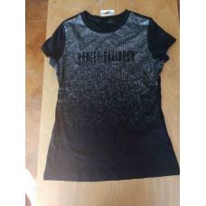 Harley Davidson Women's Metallic Print Front T-shirt, Small