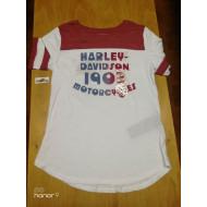 Harley Davidson Women's Retro Varsity T-shirt, Size Medium 96242-18VW