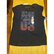 Harley Davidson Women's Ride Free Choker Neckline Tee T-shirt 96333-19VW