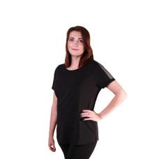 Harley Davidson 3D Mesh Shoulder Women's T-shirt, Black