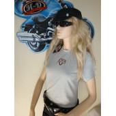 Dámské nebo i pro chlapce Harley Davidson šedé triko Victory HD 98227-05VW, vel. S