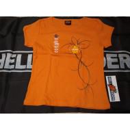 Dámské oranžové triko Harley-Davidson květina, vel. S