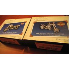 Harley Davidson Super Glide or Softail Deuce Christmas Ornament