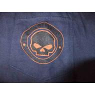 Harley Davidson blue LS Skull Shirt, V12M-510 XL
