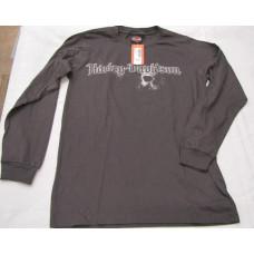 Harley Davidson Grand Rapids grey LS skull shirt , Small