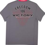 Pánské šedé tričko Victory Motorcycles Motor, M