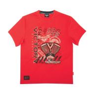 Pánské červené tričko Victory Motorcycles Montage, L